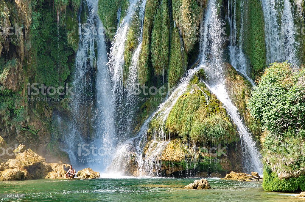 Kravice waterfalls in Bosnia Herzegovina stock photo