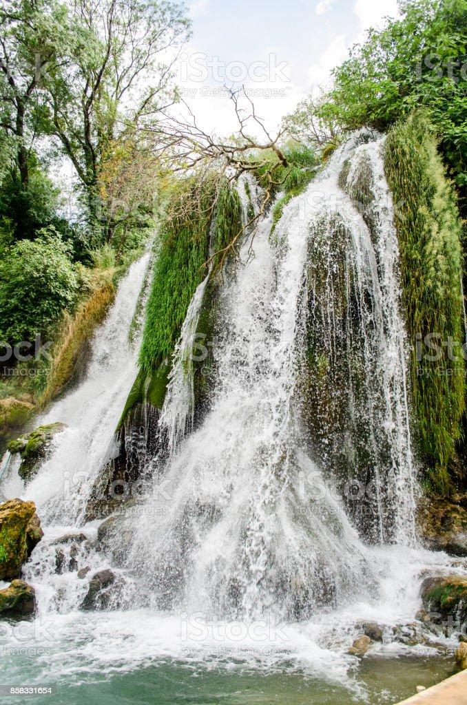 Kravice waterfalls on the Trebizat river in Bosnia and Herzegovina stock photo