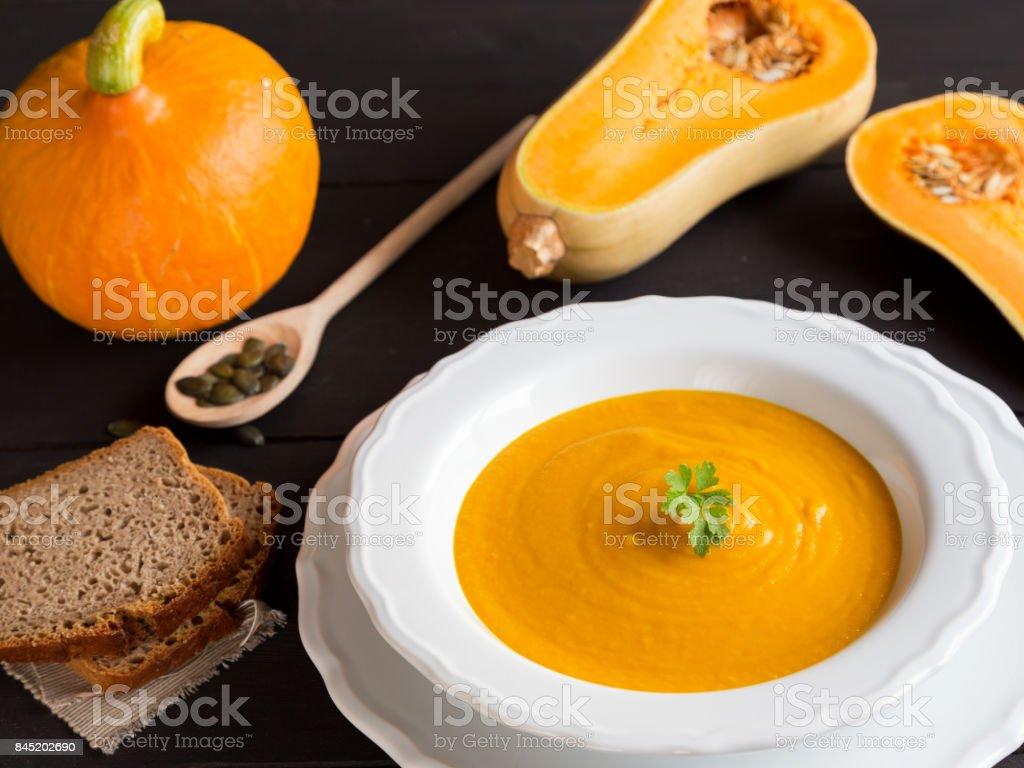 Kürbissuppe stock photo