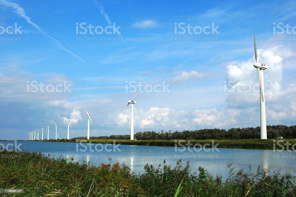 Kreekrak Windmill Farm,Zeeland,Netherlands. royalty-free stock photo