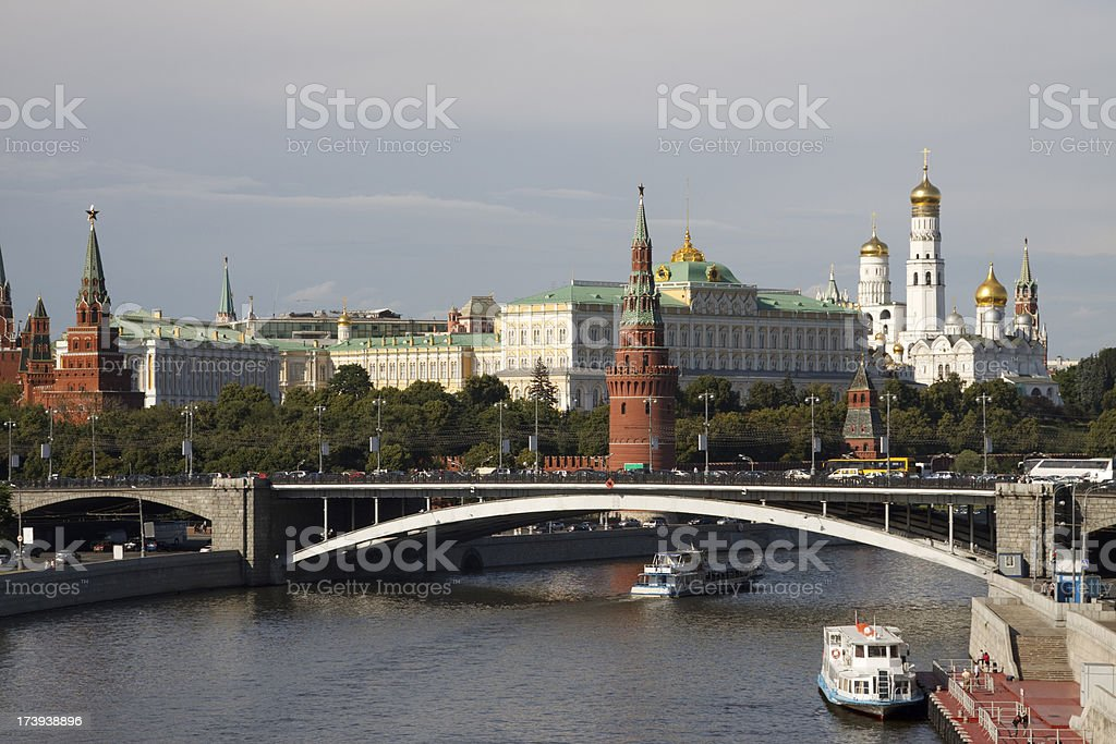 Kremlin and Moscow river royalty-free stock photo
