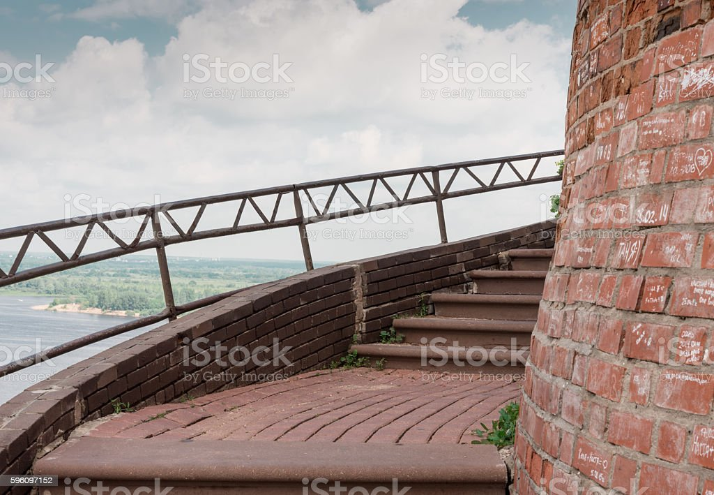 Kremlin fortress wall royalty-free stock photo