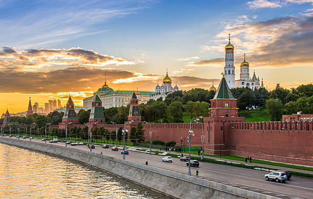 Kremlin in Moscow, Russia Sunset view of Kremlin in Moscow, Russia kremlin stock pictures, royalty-free photos & images