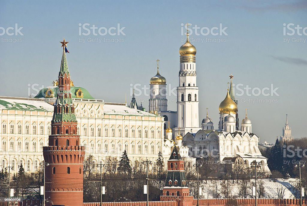 Kremlin in winter, Moscow, Russia royalty-free stock photo