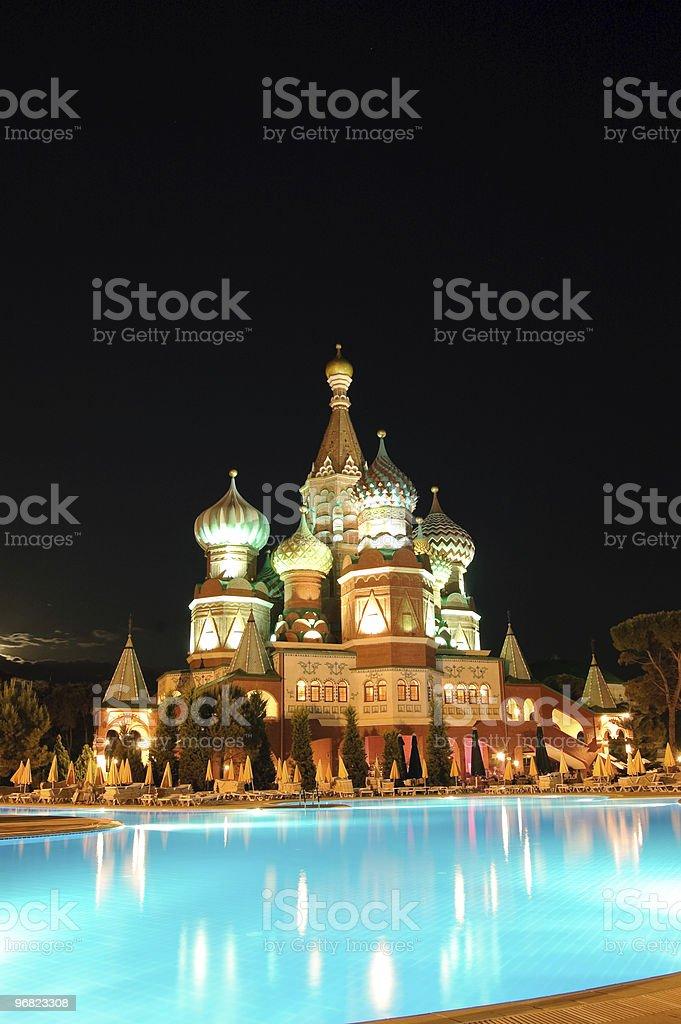 Kremlin style hotel, Antalya, Turkey royalty-free stock photo