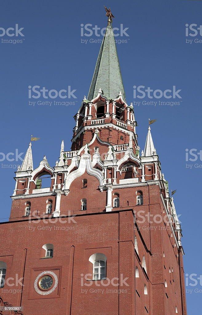 Kremlin tower on sky background royalty-free stock photo