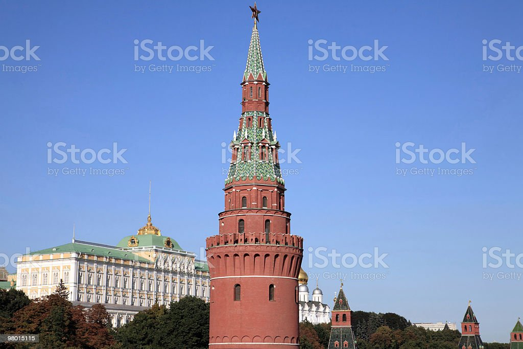 크레믈린 타워 on 스카이 배경기술 royalty-free 스톡 사진