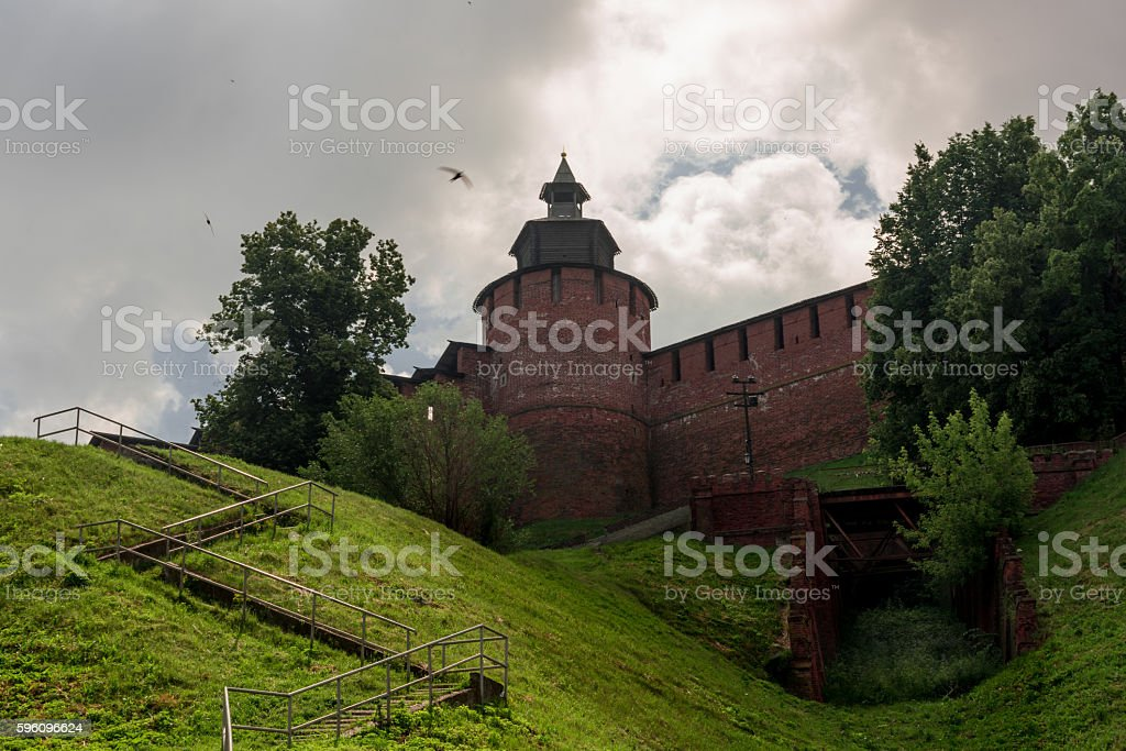Kremlin view from downstairs royalty-free stock photo