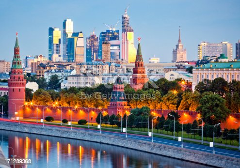 istock Kremlin wall and Moskva river in early morning 171289368
