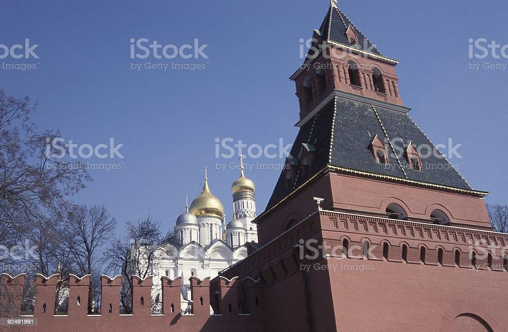 Kremlin Wall royalty-free stock photo