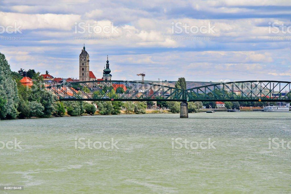 Krems an der Donau in the federal state of Lower Austria, Wachau Valley, Austria (Osterreich) stock photo
