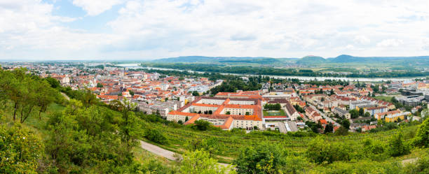 Krems and Stein at the Danube River in Lower Austria stock photo