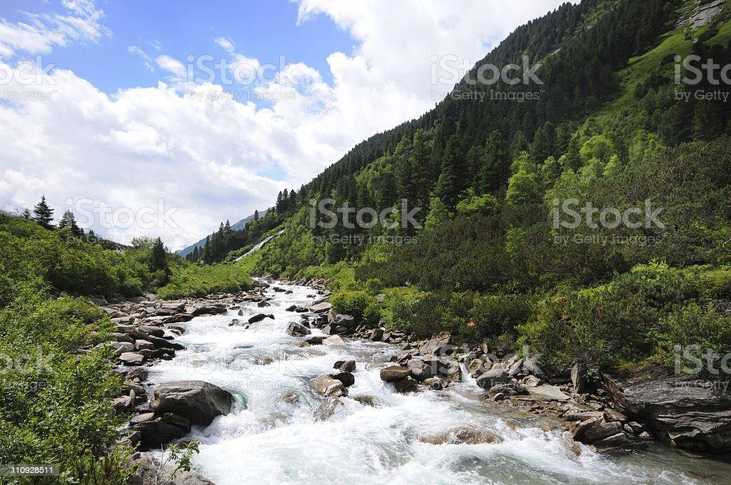 Krimml Achental in Austria stock photo