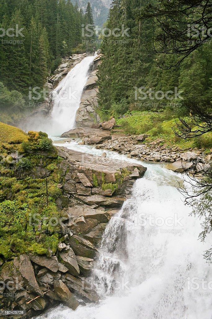 Krimml Waterfall, Austria stock photo