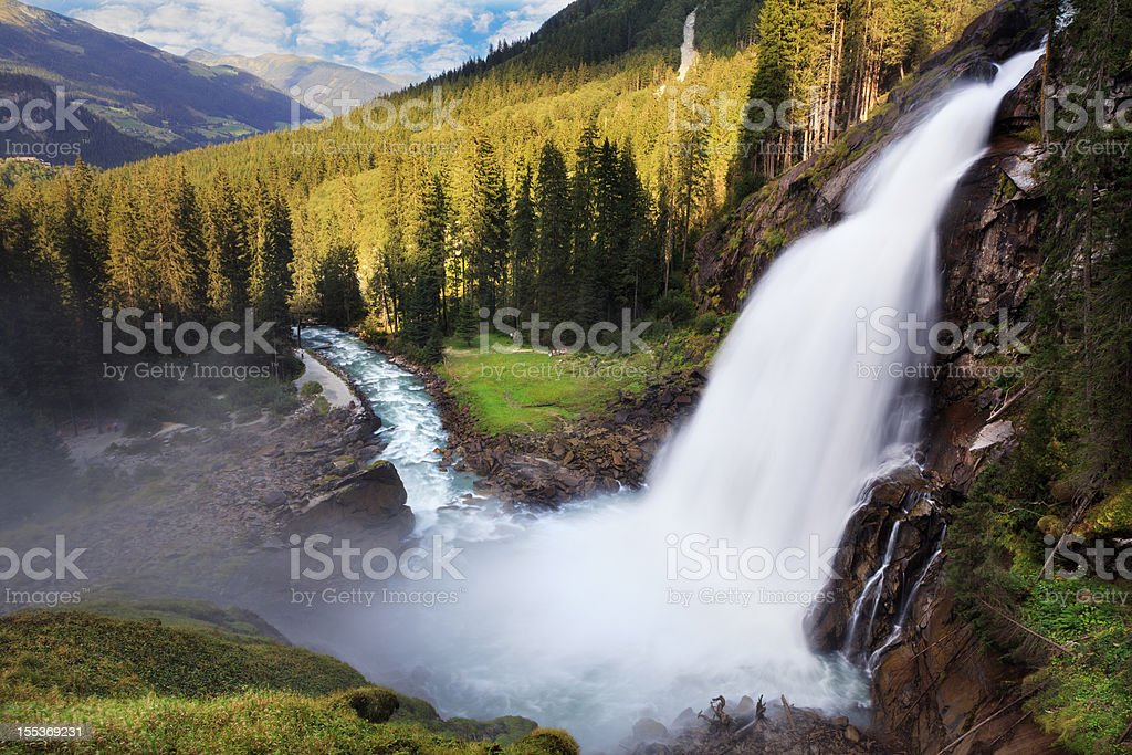 Krimml Waterfall stock photo