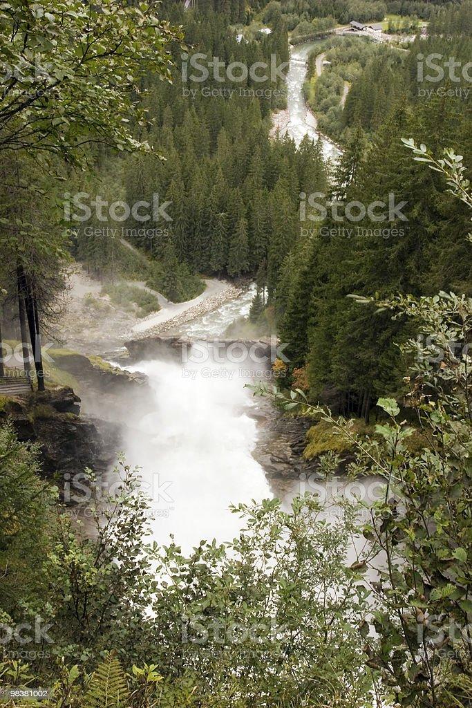 Krimml Waterfall royalty-free stock photo
