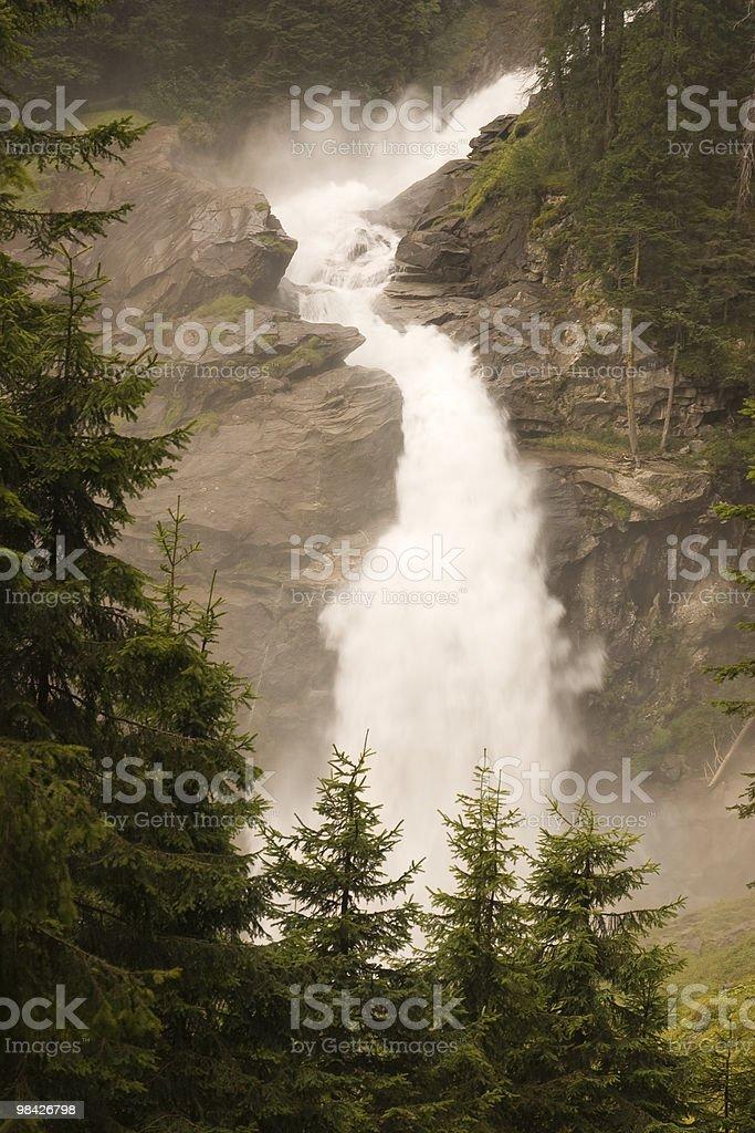 Krimml Waterfalls - Austria royalty-free stock photo
