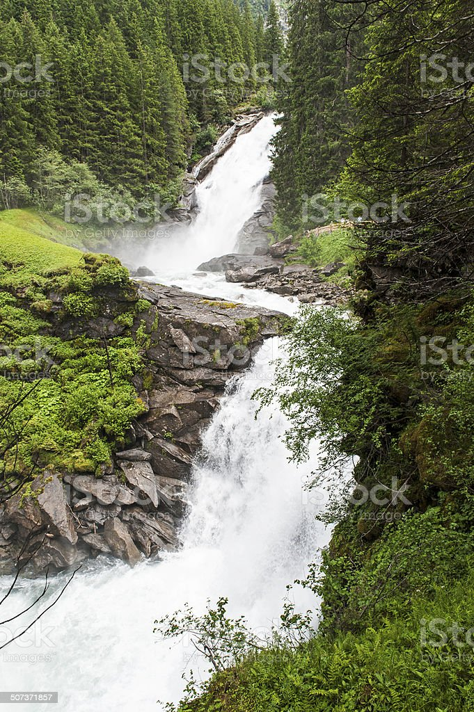 Krimml Waterfalls stock photo