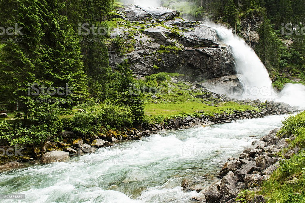 Krimml Waterfalls stock photo