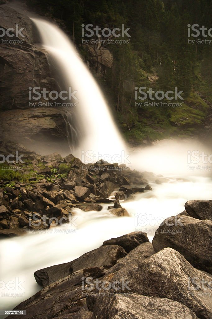Krimml Waterfalls royalty-free stock photo