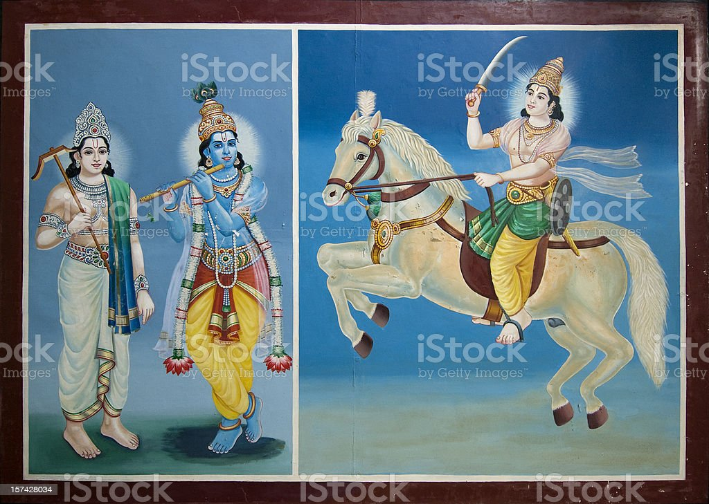 Krishna कृष्ण stock photo