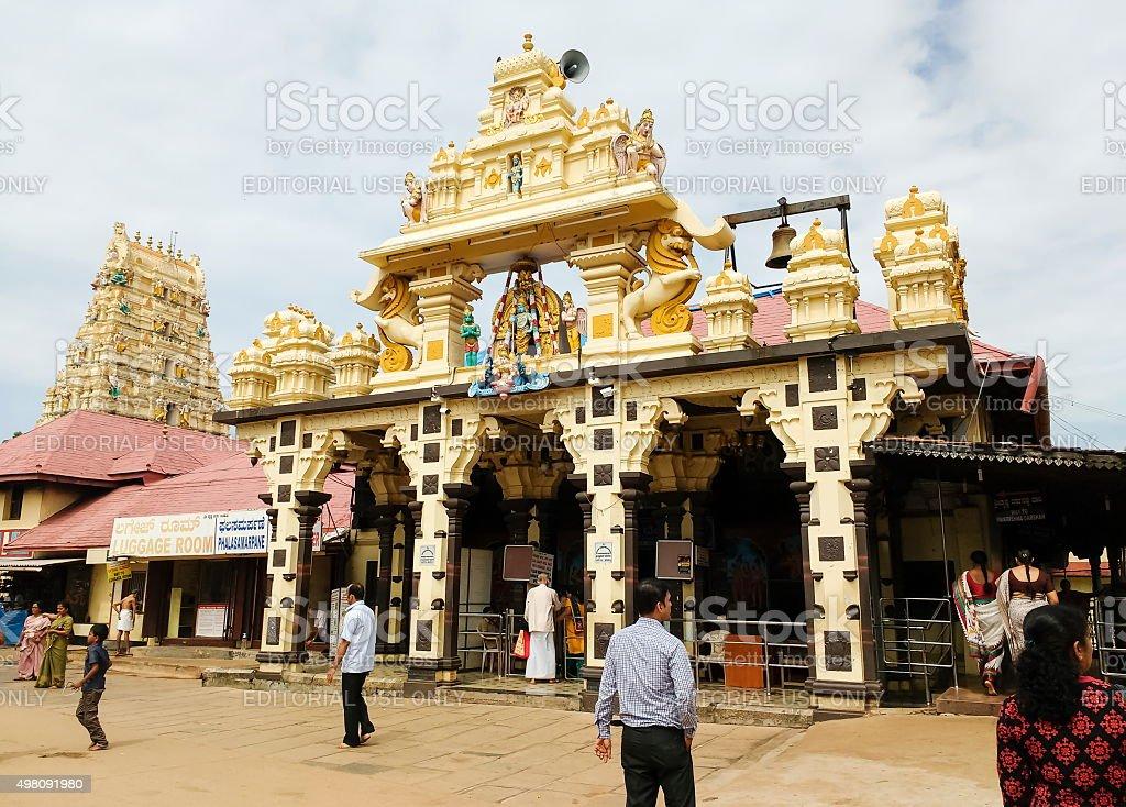 Krishna temple, Udupi, Karnataka, India stock photo