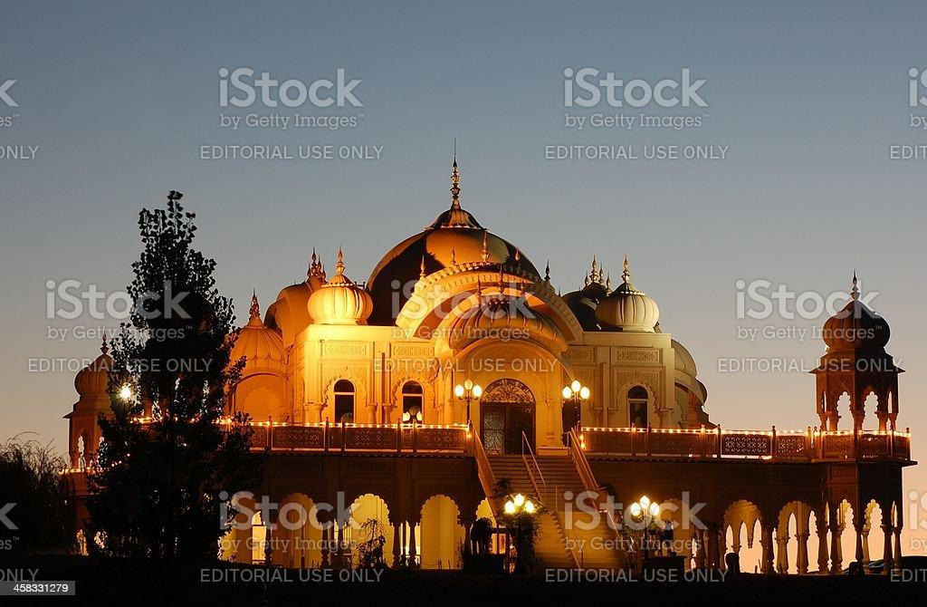 Krishna's Lotus Temple stock photo