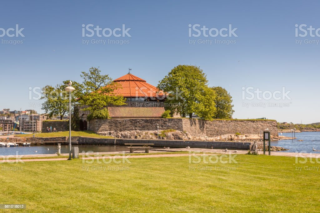 Kristiansand in the Summer stock photo