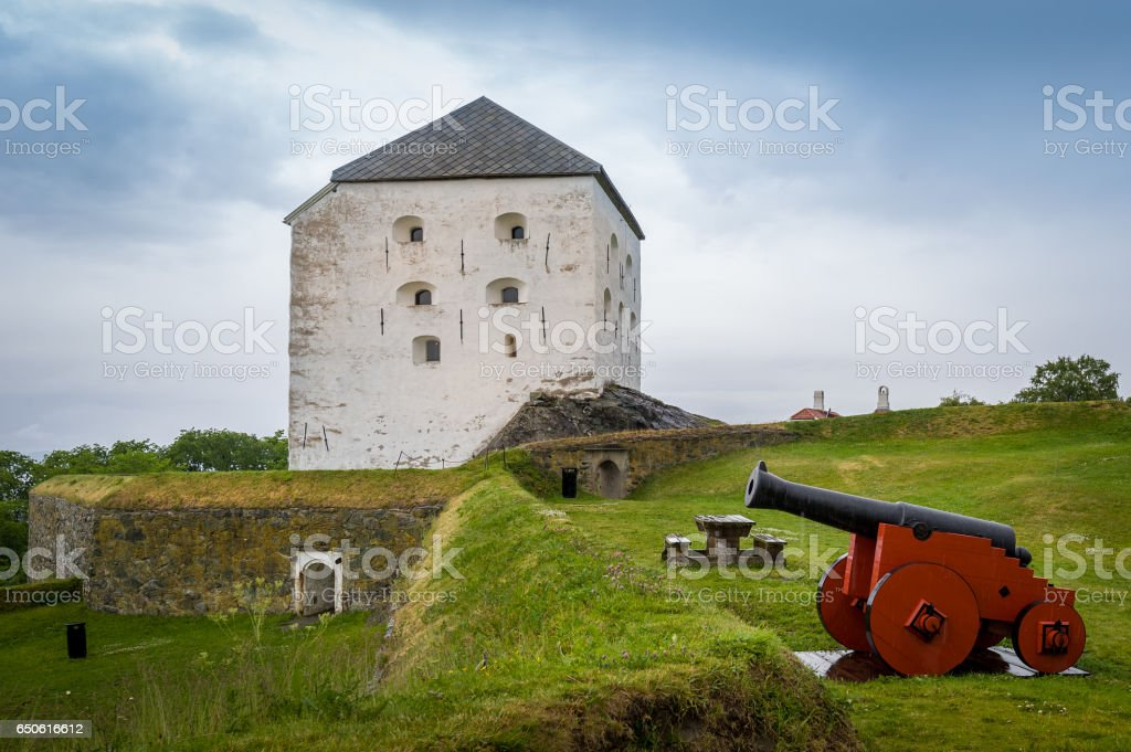 Kristiansten Fortress, Trondheim stock photo