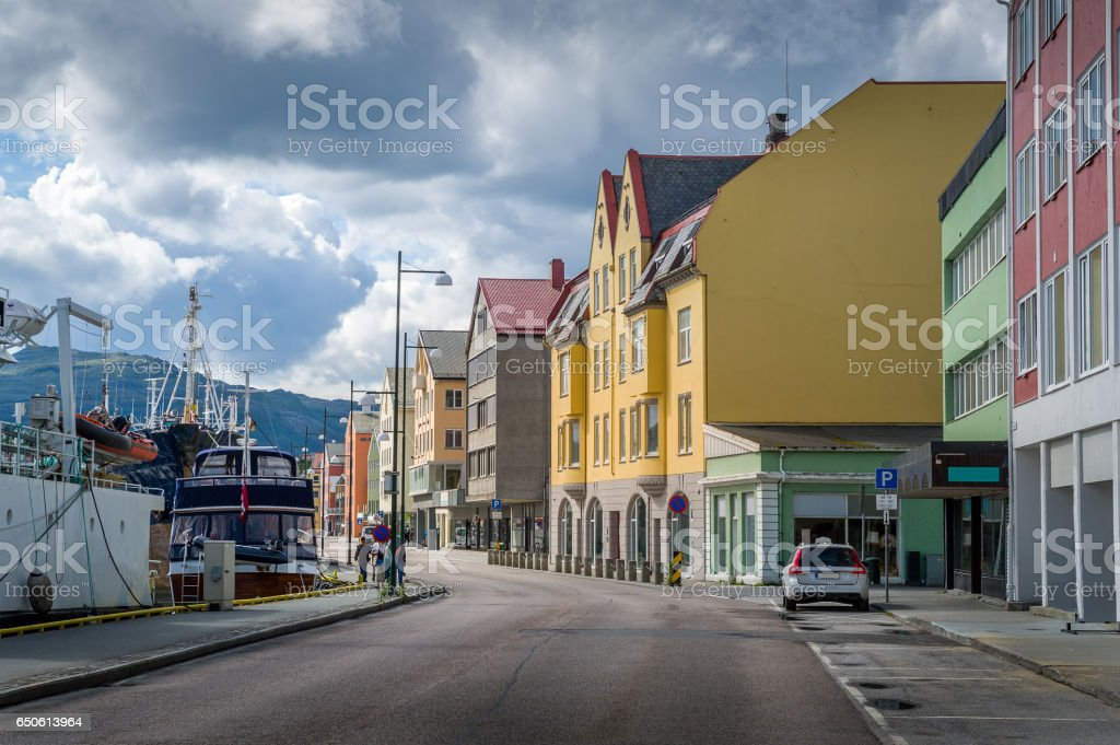 Kristiansund embankment, Norway stock photo