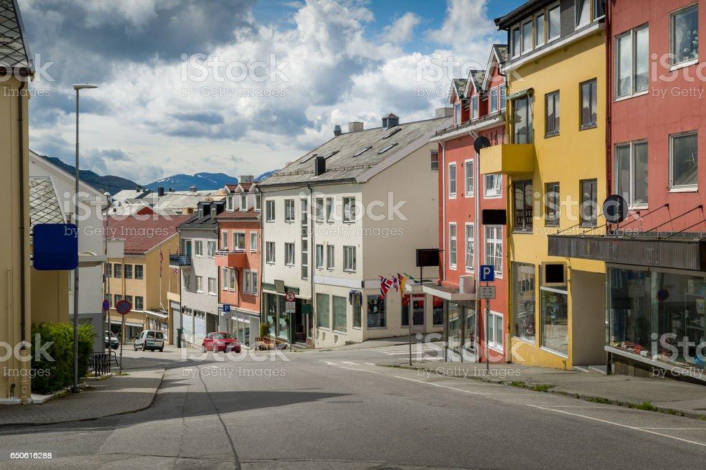 Kristiansund streets, Norway stock photo