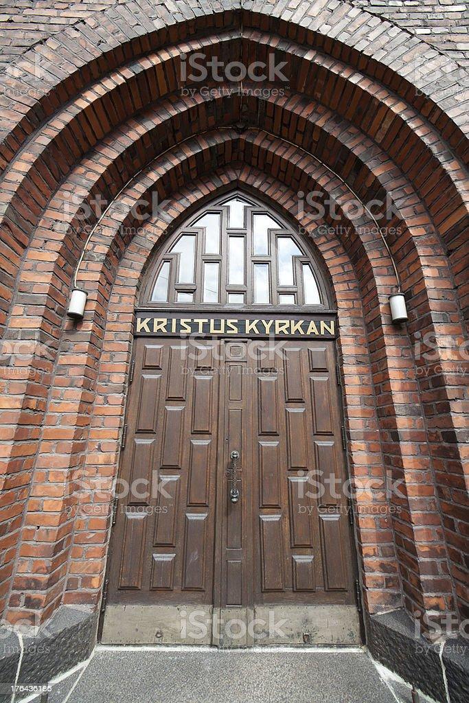 Kristus kyrkan stock photo