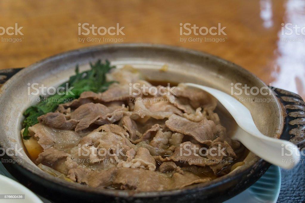 Kritanpo nabe, Local pork hotpot Japanese cuisine stock photo