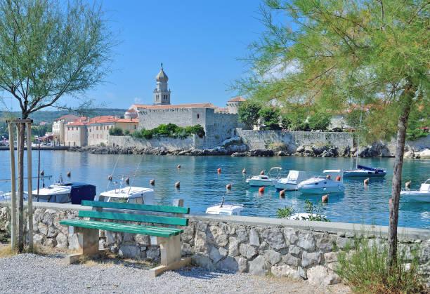 Die Stadt Krk auf Krk, Adria, Kroatien – Foto