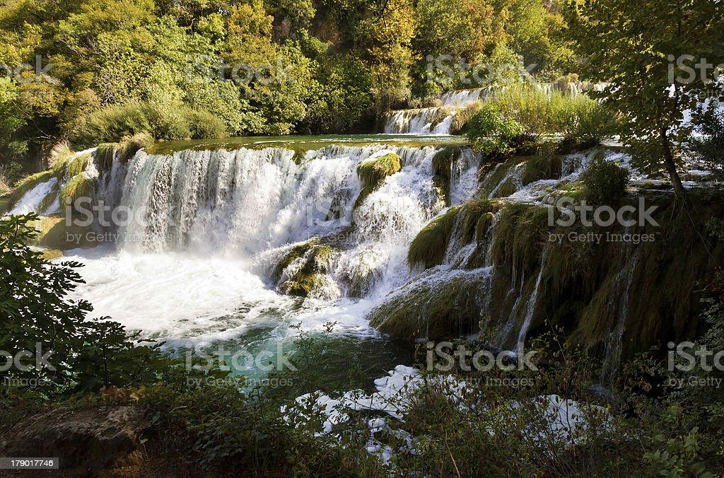 Krka cascades royalty-free stock photo