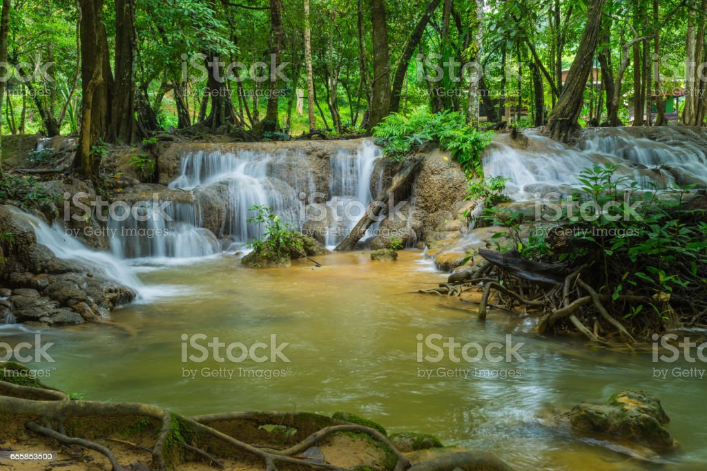 Kroeng Krawia Waterfalls stock photo
