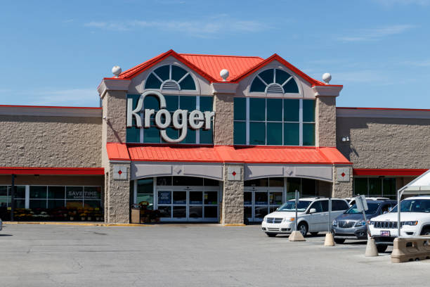 Kroger Supermarket. The Kroger Co. is One of the World's Largest Grocery Retailers IV stock photo