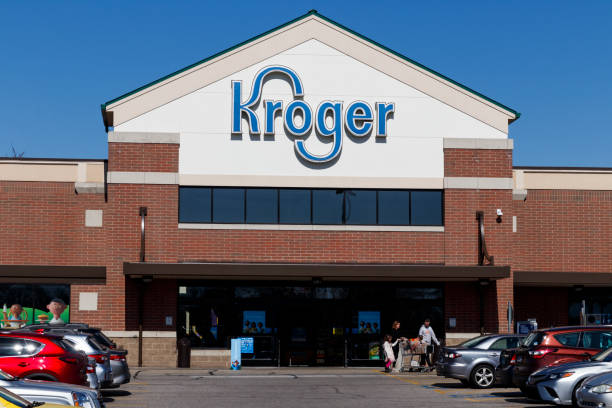 Kroger Supermarket. The Kroger Co. is One of the World's Largest Grocery Retailers. stock photo