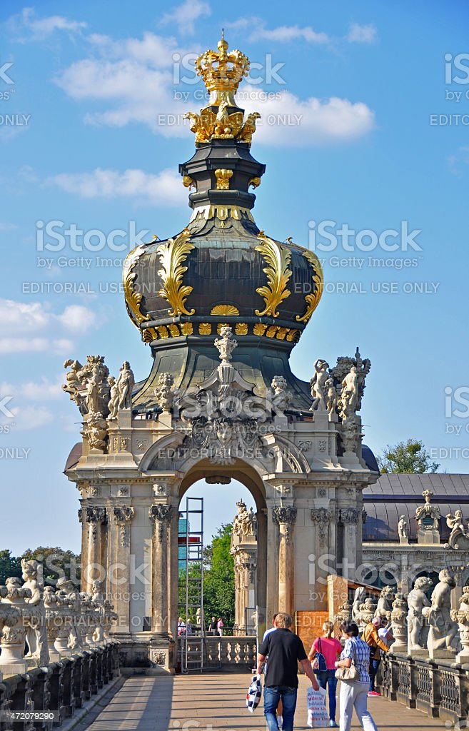 Kronentor at the Zwinger in Dresden stock photo