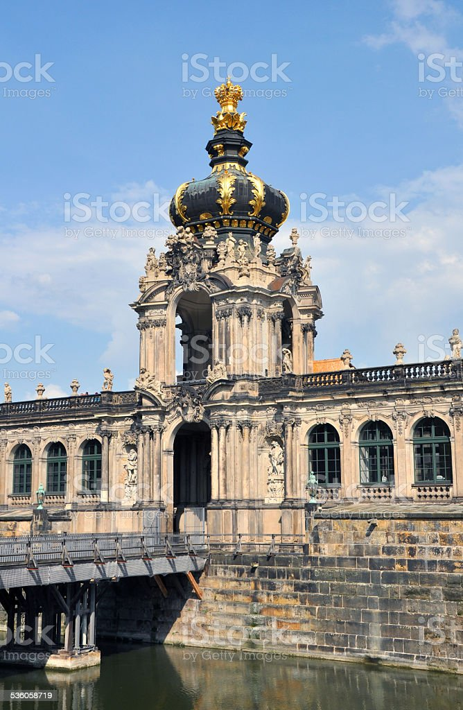 Kronentor of the Zwinger in Dresden, Germany stock photo