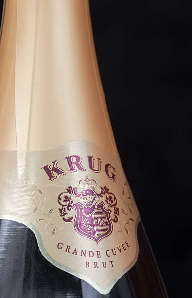 Krug champagne stock photo