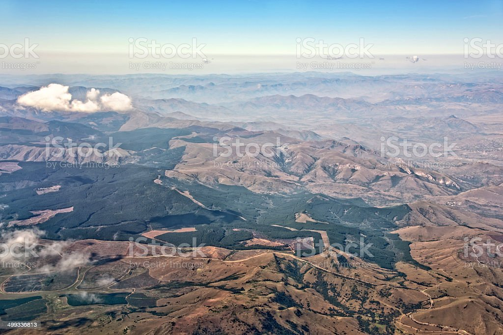 Kruger park, aerial photography, South Africa stock photo