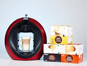 Krups Nescafe Dolce Gusto Circolo Coffee Machine and capsules