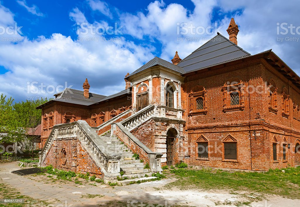 Composto Krutitskoe Catedral em Moscovo, Rússia foto de stock royalty-free