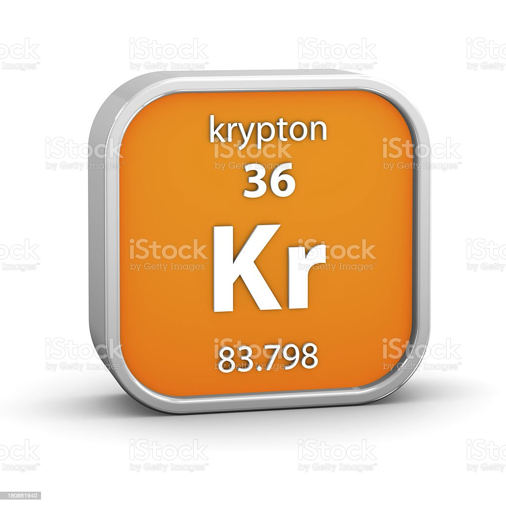 Krypton material sign royalty-free stock photo