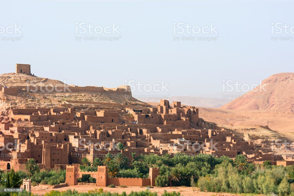 Ksar Ait Ben Haddou village stock photo