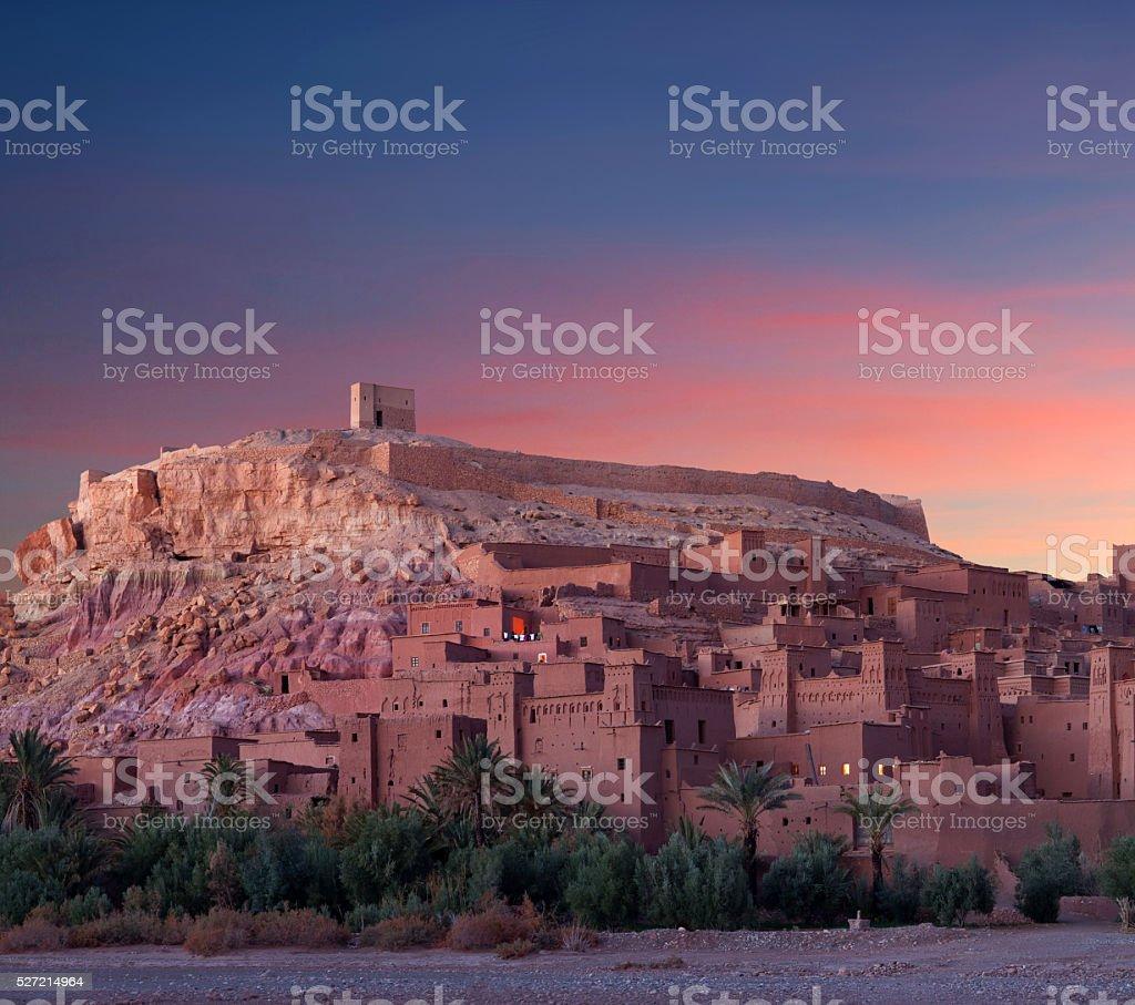 Ksar Ait Benhaddou in Morocco stock photo