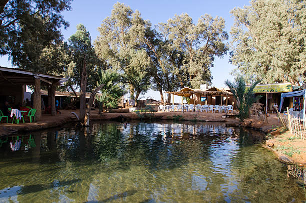 Ksar Ghilane oasis resorte - foto de stock