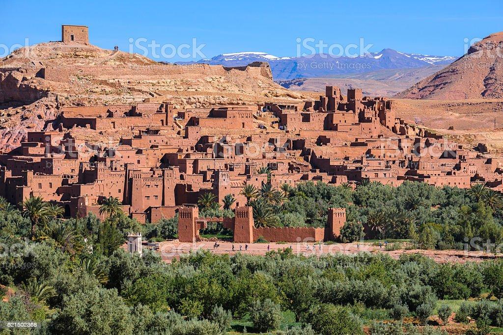 Ksar d'Aït Ben Hadu, Maroc photo libre de droits