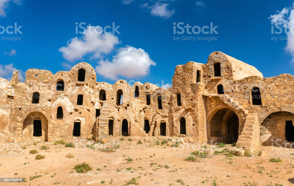 Ksar Ouled Abdelwahed at Ksour Jlidet village in South Tunisia stock photo
